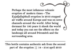 Volcano Ash - Authentic Ash from Eyjafjallajokull and Grimsvotn