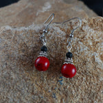 Load image into Gallery viewer, Dark Lava Earrings with 4mm Lava – Icelandic Handmade Jewelry