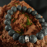 Iceland Viking Lava Bracelet with Beautiful Large 10mm Lava Beads