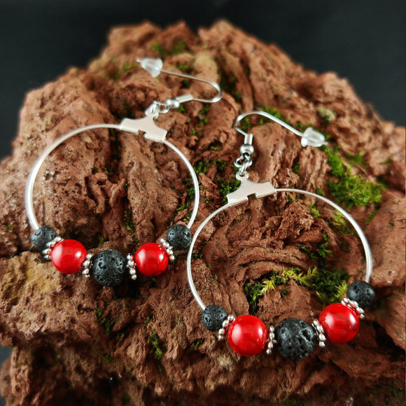 Volcano Lava Hoop Earrings