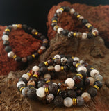 Lava and Natural Mixed Agate Bracelet - Icelandic Lava Design - Lava Rock Reykjavik