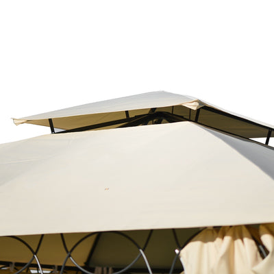 Large Outdoor Patio Tent 12 FT x11 FT/ 11 FT x11 FT Beach BBQ