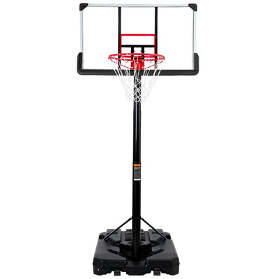 Portable Basketball Hoop and Goal Outdoor Basketball System with 6.6-10ft Height Adjustment for Youth Adults