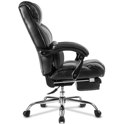 PU Leather Executive Office Chair Swivel with Padded Footrest