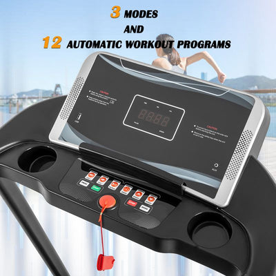 2. 0 HP Electric foldable Treadmill Compact Running Machine for Home Weight Loss