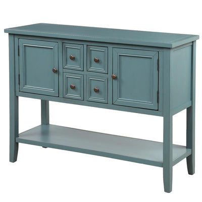 Buffet Sideboard Console Table with Bottom Shelf and 4 Drawers