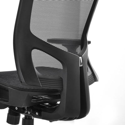Mesh Office Chair High Back with Adjustable Headrest and Armrests Modern Design