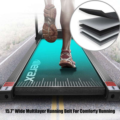 Folding Electric Treadmill Running Machine for Home with LCD Tablet Holder