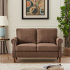 Living Room Sofa Loveseat Couch  Brown/ Light Grey