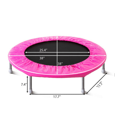 38 inch Mini Fitness Trampoline with Safety Pad Stable Rebounder