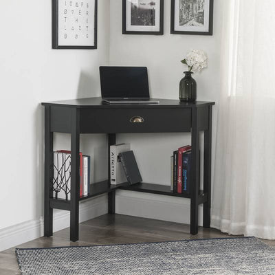 Corner Desk with1 Drawer and Shelves Computer Table