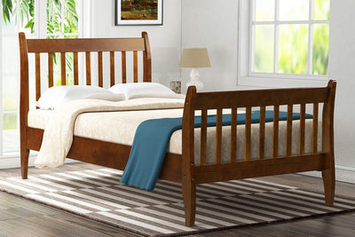 Wood Platform Bed Frame with Wood Slat Support Twin Size