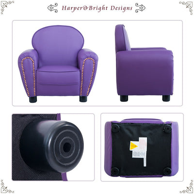 Kids Sofa Armrest Chair PU Leather Children Relax Couch Suitable for Preschool Children