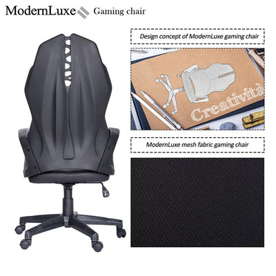 Mesh Fabric Racing Gaming Chair Ergonomic Computer PC Desk Chair