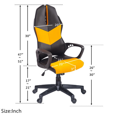 Racing Gaming Chair Soft Home Office PC Computer Task Chair