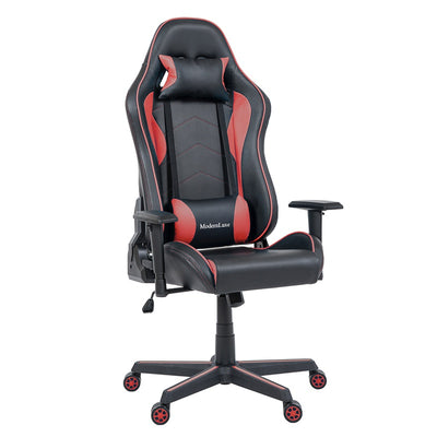 Ergonomic Gaming Office Chair Swivel High Back PU Leather Racing Chair