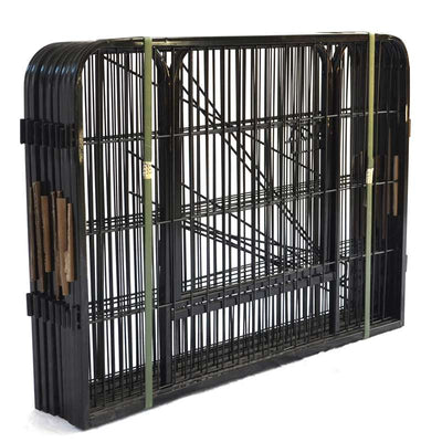 8 Panels Indoor Dog Playpen Large Metal Puppy  Dog Exercise Pen