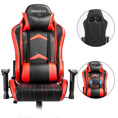 PU Leather Swivel Gaming Chair Racing Reclining Chair