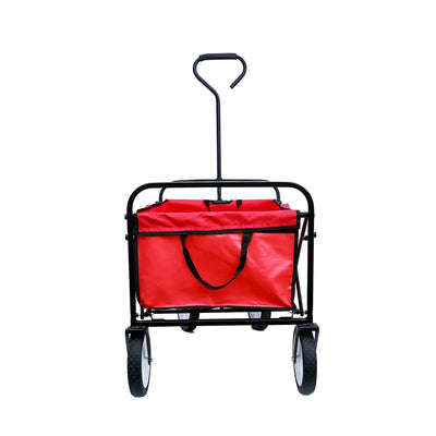 All-terrain Folding Beach Wagon Garden Utility Carts Collapsible Rolling Tool Cart with Wheels