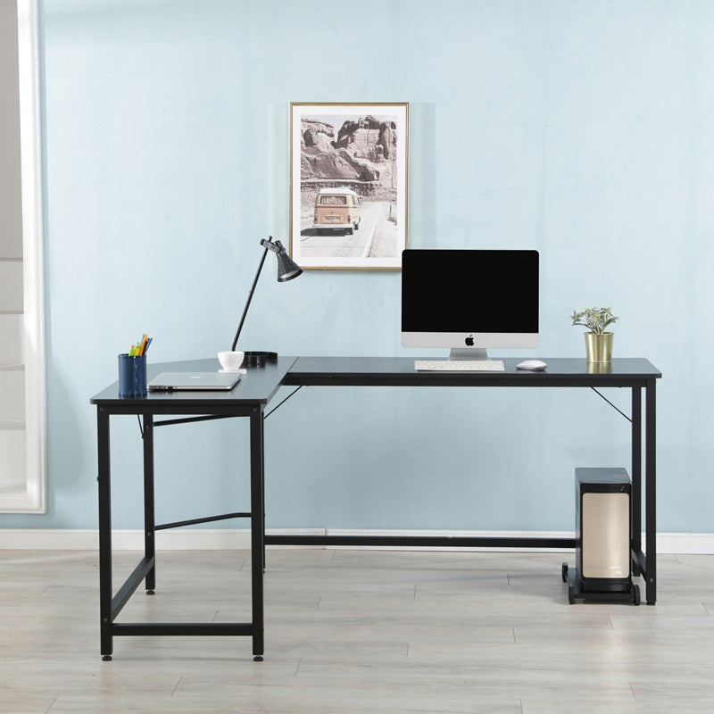 L Shaped Corner Computer Desk PC Laptop Home Office Study Writing Gaming Desk