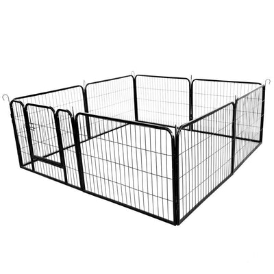 Large 16 Panel Heavy Duty Metal Adjustable Pet Fence Portable Outdoor Folding Exercise Fence Playpen