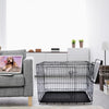 36'' Double Doors Folding Pet Crate Large Metal Kennel Dog Cage