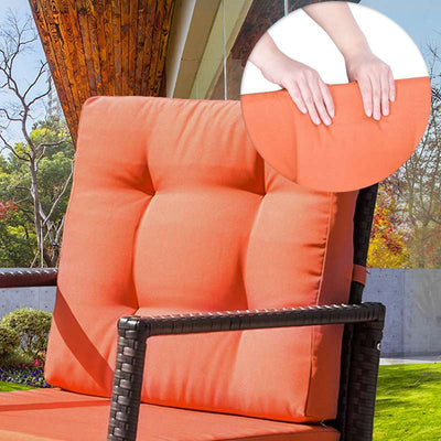 Outdoor Wicker Rocking Chair Patio Garden Furniture