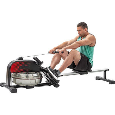 Foldable Water Rowing Machine Rower with LCD Monitor