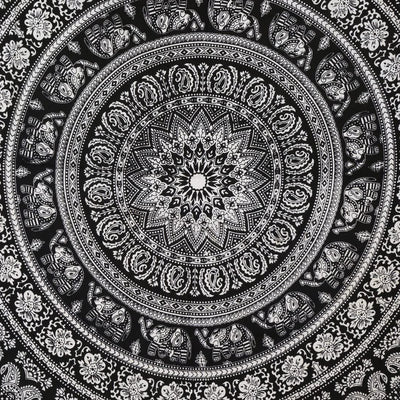 Mandala Tapestries Indian Hippie Wall Art Bohemian Decor Hippie Black and White Wall Hanging