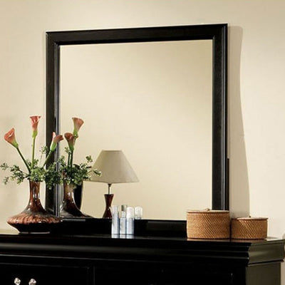 Decorative Wall Mirrors Bathroom Mirrors with Black Rectangular Wood Frame