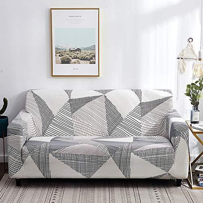 Sofa Covers Stretch Printed Couch Slipcovers Polyester Spandex Furniture Cover Protector with Elastic Bottom Anti-slip Foam