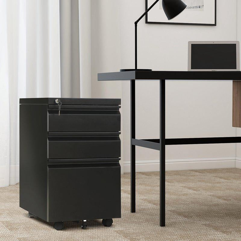 Mobile File Cabinet Office Computer Desk Storage Cabinet