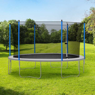 15 FT Family Trampoline with Safety Net