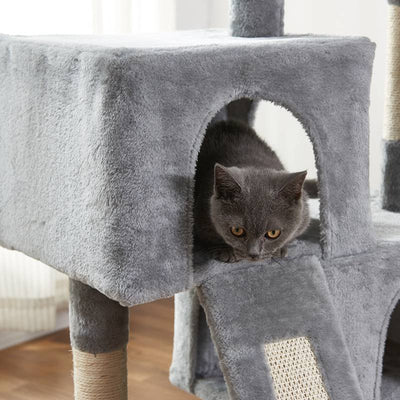 Cat Tree with Sisal Grab Bar Grab Board Cat Tower Furniture Kitten Activity Center Play House