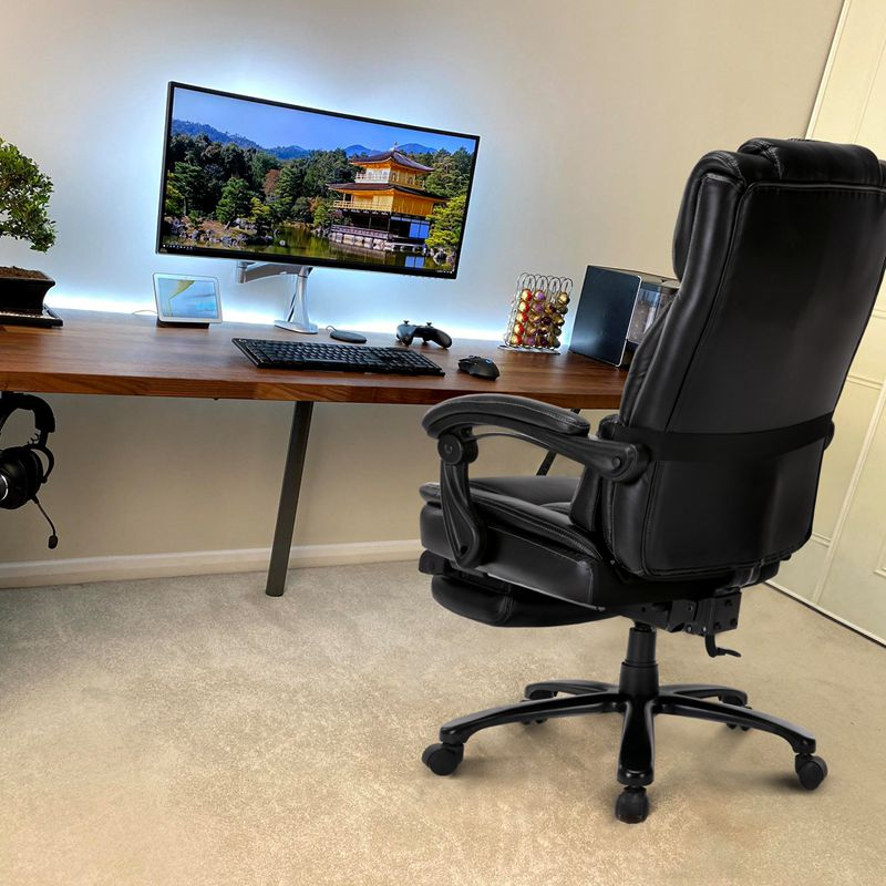 High Back Ergonomic Gaming Chair  Pu Leather Swivel Executive Computer Desk Chair with Footrest Reclining Office Chair