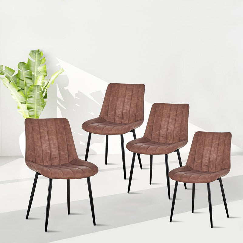 Modern Leather Dining Chairs Kitchen and Dining Room Chair Set of 4