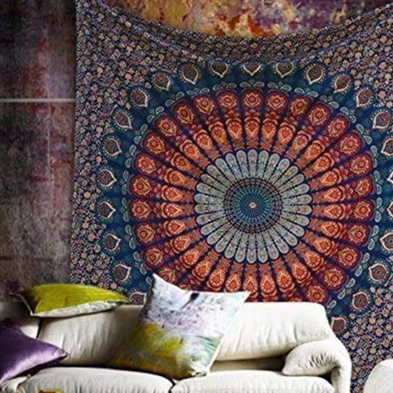 Mandala Tapestry Indian Wall Hanging Aesthetic Tapestry Home Decoration