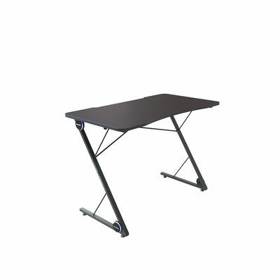 Z-shaped Gaming Desk E-sport Computer PC Gaming Table with Led Lights Large Carbon Fiber Surface Ergonomic for Home Office