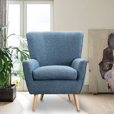 Modern Living Room Fabric Accent Chair