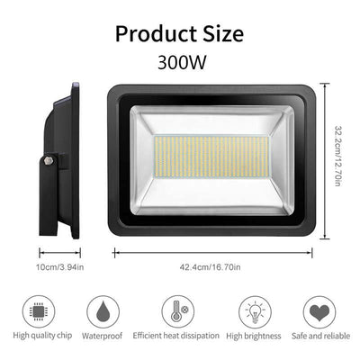 LED Floodlight SMD Outdoor Spotlights Cool/Warm White 2835 300W-800W