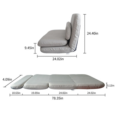 Folding Sleeper Sofa Adjustable Futon Bed Floor Recliner Sofa Bed with Pillow