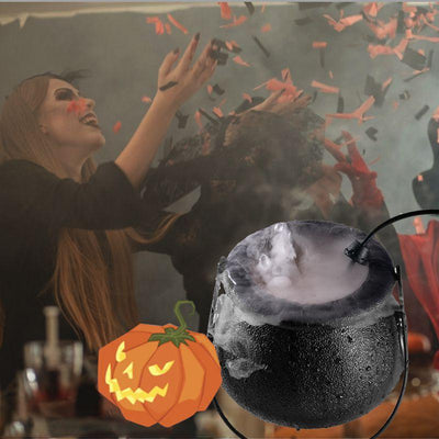 "Halloween LED Witch Pot  Mister Atomizer Cauldron 4.5"" x 5"""