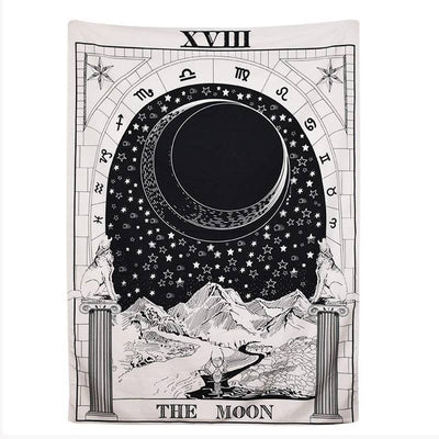 Tarot Wall Tapestry Mysterious Medieval Europe Divination Room Tapestry Wall Hanging Home Decorations
