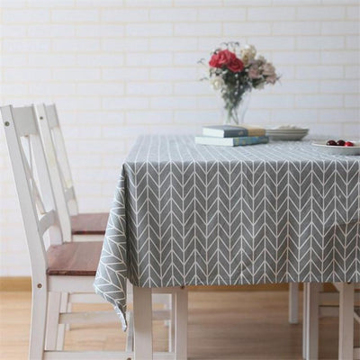 Rectangular Tablecloth Cotton Linen Simple Twill Tablecloth Suitable for Home Kitchen Decoration