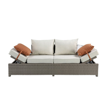 Outdoor Patio Wicker Sofa Furniture Sets with Ottoman Garden Seating Couch Furniture