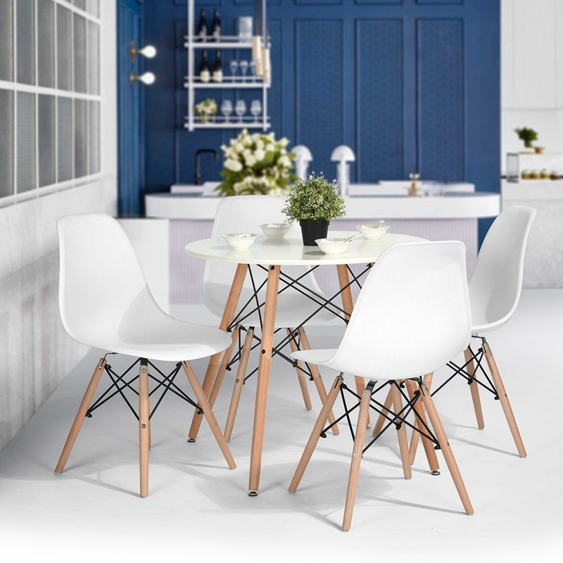 4 Pcs Modern Dining Chair Lounge Chair for Kitchen Coffee Room Dining Room Office