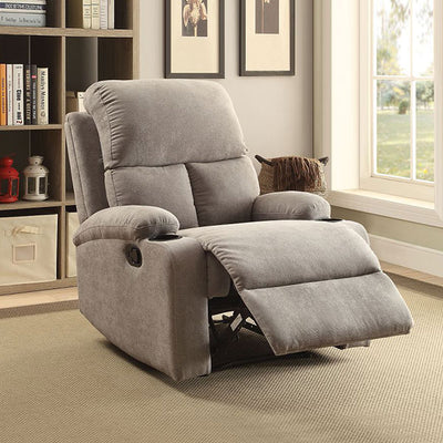 Velvet Recliner Sofa Chair Blue/ Brown/ Gray