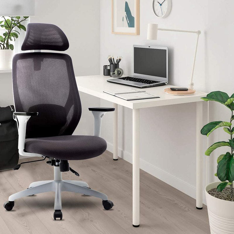 Ergonomic Office Chair with Adjustable Headrest Armrest Tilt Function and Position Lock