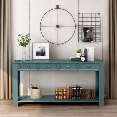 Console Table Sideboard with Storage Drawers and Bottom Shelf for Hallway