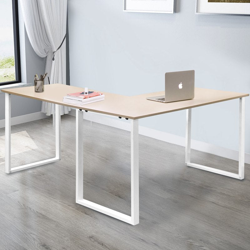 L Shape Computer Desk Large Space Desktop Conner Table for Home Office